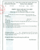 Receipt of application for approval of EIA report