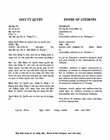 Power of attorney from the investor to the authorized person/authority